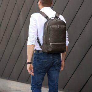 Неповторимый коричневый мужской деловой рюкзак BRL-45796 229269