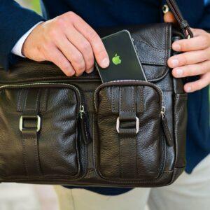 Удобная коричневая мужская сумка через плечо BRL-12996 227197