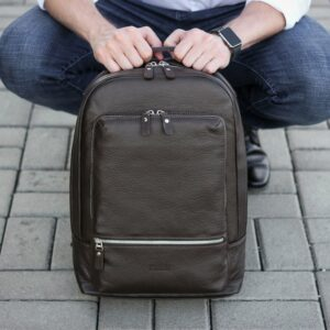 Неповторимый коричневый мужской деловой рюкзак BRL-45796 229279