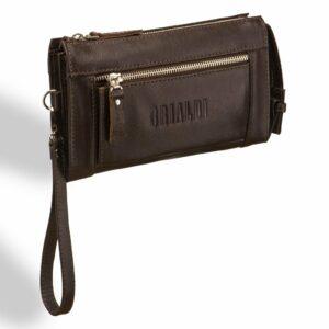 Неповторимый коричневый мужской портмоне клатч BRL-8403 229291