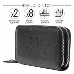 Модный черный мужской портмоне клатч BRL-43903
