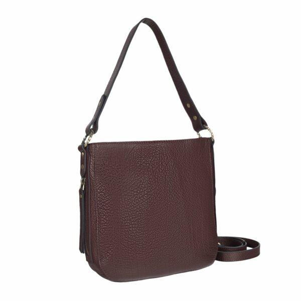 Модная бордовая женская сумка через плечо BRL-47545