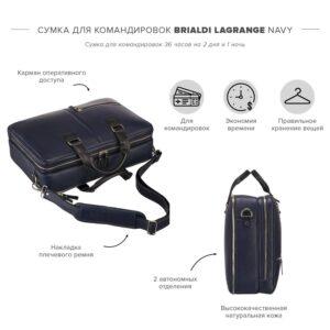 Неповторимая синяя дорожная сумка портфель BRL-23118