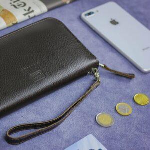 Солидный коричневый мужской портмоне клатч BRL-19842 228155