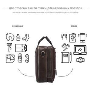 Функциональная коричневая дорожная сумка портфель BRL-23117 228374