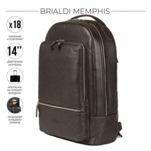Неповторимый коричневый мужской деловой рюкзак BRL-45796