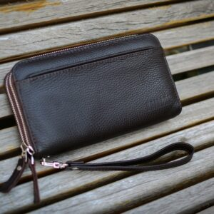 Кожаный коричневый мужской портмоне клатч BRL-32926 228797