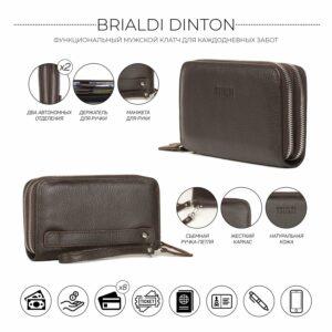 Стильный коричневый мужской портмоне клатч BRL-43904 229103