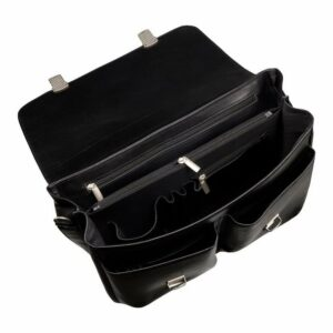 Стильный черный мужской портфель классический BRL-912 227493