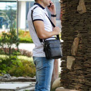 Деловая черная мужская сумка через плечо BRL-34399 229948