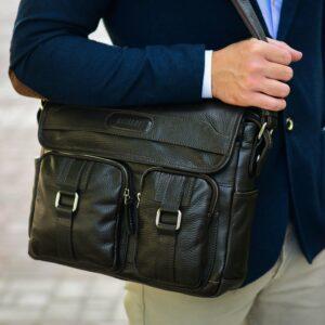 Удобная коричневая мужская сумка через плечо BRL-12996 227195
