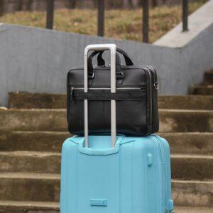 Кожаный черный мужской портфель деловой BRL-44548 227289
