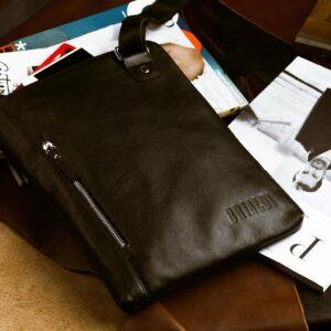 Деловая черная мужская сумка мессенджер BRL-1039 227560
