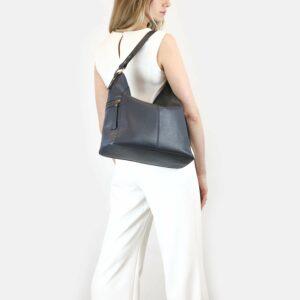 Удобная синяя женская сумка через плечо BRL-47454 229846