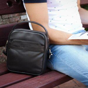 Удобная коричневая мужская сумка через плечо BRL-34400 228958