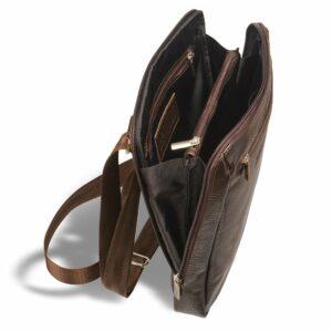 Вместительная коричневая мужская сумка через плечо BRL-12057 227849