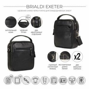 Деловая черная мужская сумка через плечо BRL-34399 229935
