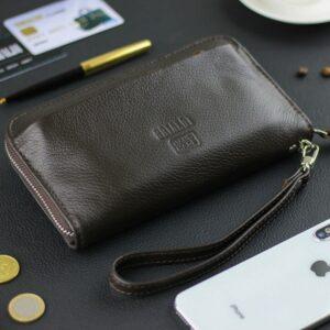Кожаный коричневый мужской портмоне клатч BRL-28614 228614