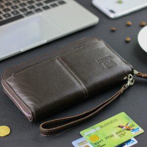 Деловой коричневый мужской портмоне клатч BRL-28615 228631