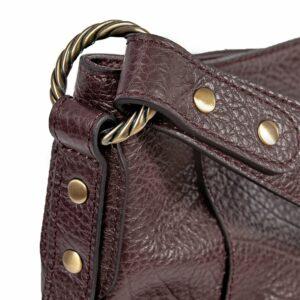 Деловая бордовая женская сумка через плечо BRL-47450 229793