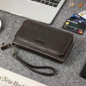 Деловой коричневый мужской портмоне клатч BRL-44374 229201