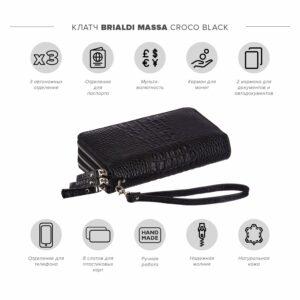 Стильный черный мужской портмоне клатч BRL-23063 228264