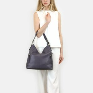 Вместительная фиолетовая женская сумка через плечо BRL-47455 229859