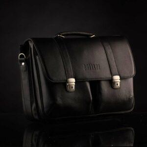 Стильный черный мужской портфель классический BRL-912 227500