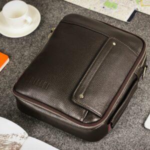 Кожаная коричневая мужская сумка через плечо BRL-19878 228233