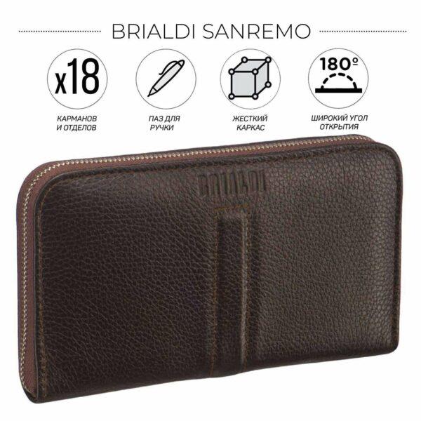 Уникальный коричневый мужской портмоне клатч BRL-26760