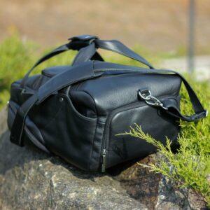 Кожаная черная мужская сумка для командировок BRL-30544