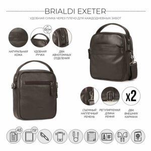 Удобная коричневая мужская сумка через плечо BRL-34400 228932