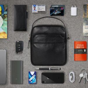 Деловая черная мужская сумка через плечо BRL-34399 229946