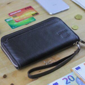Кожаный коричневый мужской портмоне клатч BRL-28537 228563