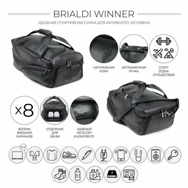 Модная черная мужская сумка для командировок BRL-30544