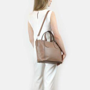 Деловая бежевая женская сумка через плечо BRL-47269 229716