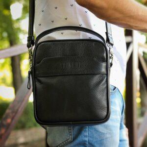 Деловая черная мужская сумка через плечо BRL-34399 229942
