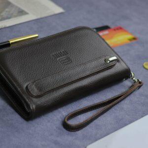 Солидный коричневый мужской портмоне клатч BRL-26739 228423