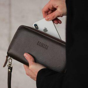 Стильный коричневый мужской портмоне клатч BRL-43904 229110