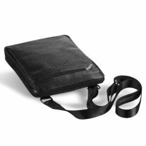 Солидная черная мужская сумка через плечо BRL-12058 227859