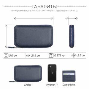Уникальный синий мужской портмоне клатч BRL-23098 228332