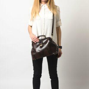 Удобная коричневая женская сумка ATS-1491 229628