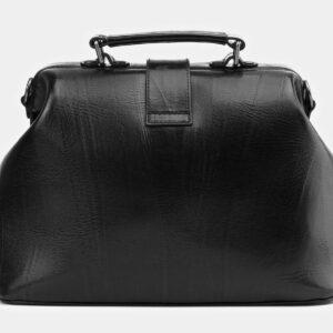 Функциональная черная сумка с росписью ATS-4006 227254