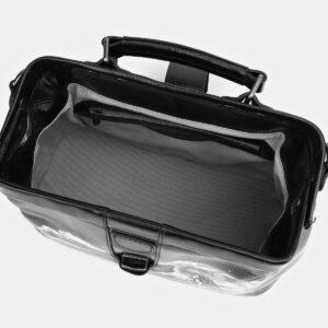 Функциональная черная сумка с росписью ATS-4006 227255