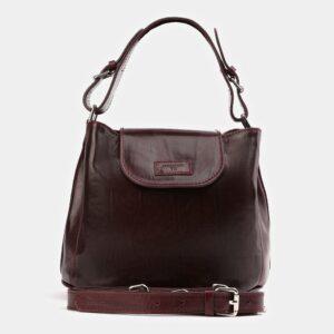 Деловая бордовая женская сумка ATS-4008