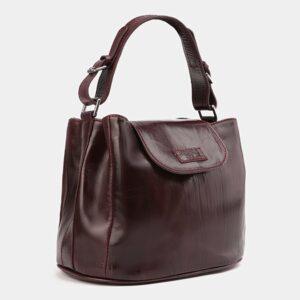 Деловая бордовая женская сумка ATS-4008 227243