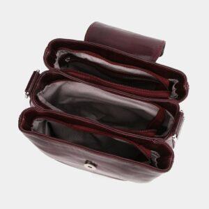 Деловая бордовая женская сумка ATS-4008 227245