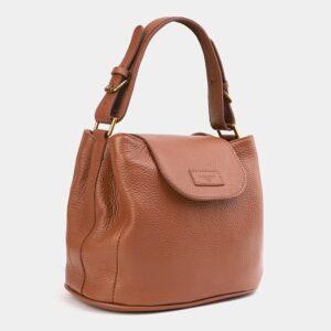 Стильная светло-желтая женская сумка ATS-4009 227238