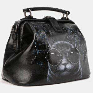 Деловая черная сумка с росписью ATS-4010 229347