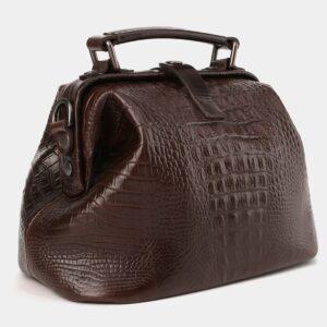Удобная коричневая женская сумка ATS-4011 229342